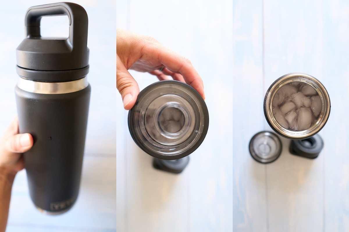 thermal mug with twist on caps